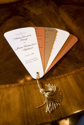 Shimmering wedding ceremony fans favors