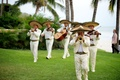 Mexican men in sombrero hats playing music