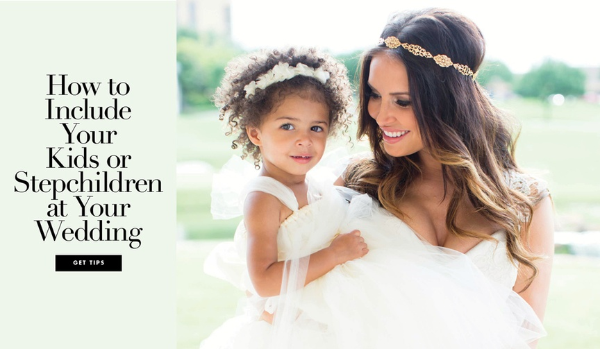 involving your kids or stepchildren in your wedding day