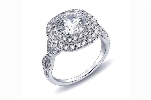 Coast Diamond double halo diamond engagement ring