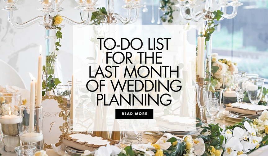 wedding to-do list, what to do a month before your wedding, what to do 30 days before your wedding