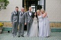 Alexis Cozombolidis and Hunter Pence wedding family portrait mother father brother sister of groom