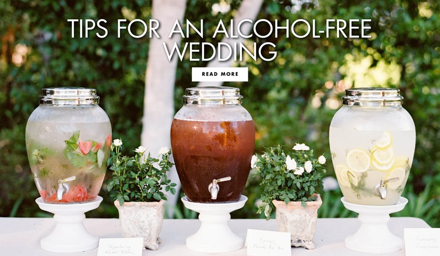 Tips for an alcohol free wedding successful dry wedding tips