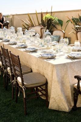 Rectangular outdoor brunch table