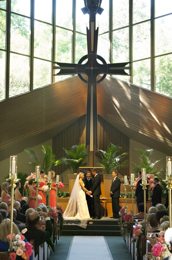 Wedding ceremony at Providence Presbyterian Church