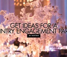 get ideas for a wintry engagement party in the winter season