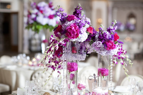 Real wedding with purple modern details in new jersey