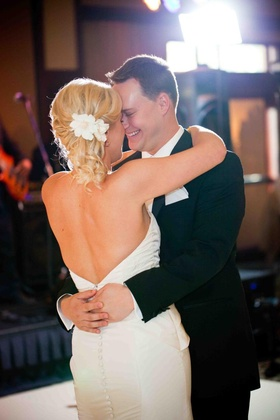 Newlyweds first dance as husband and wife