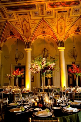 The Breakers wedding ballroom with orchid flowers