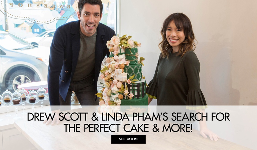 Learn more about Wedding Cake Championship and Wedding Cake Countdown with Drew Scott and Linda Phan