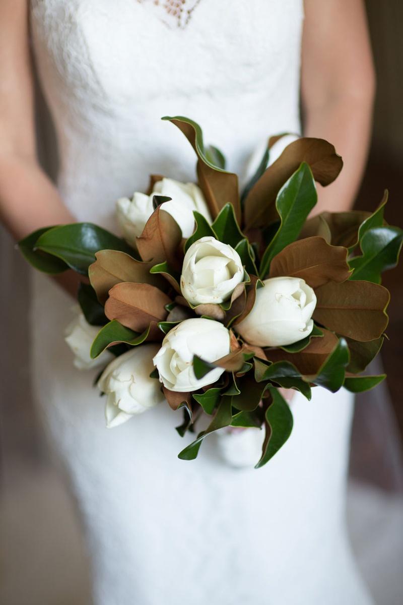 Bouquets Photos - Magnolia Flower & Leaf Bouquet - Inside Weddings