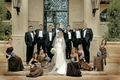 Groom with groomsmen and bride with bridesmaids