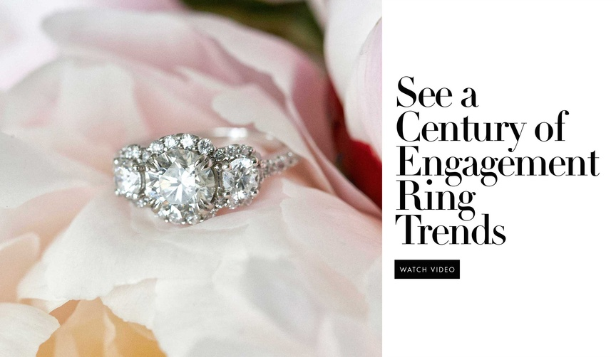Engagement ring trends over last 100 years video from Mode