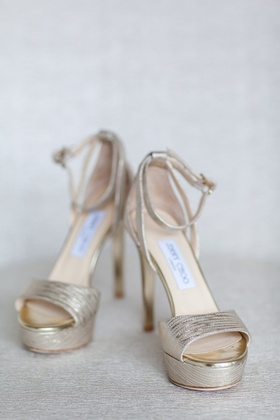 high heel platform bridal shoes jimmy choo metallic shiny classic