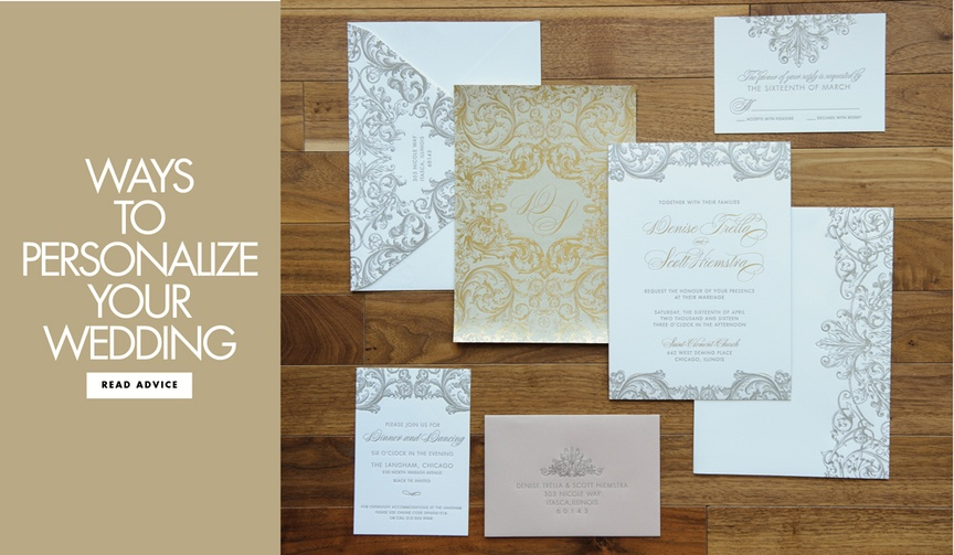 Expert tips on how to personalize your wedding four ways to customize your party