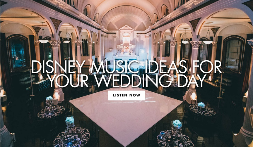 disney songs for your wedding, black and white wedding reception at vibiana