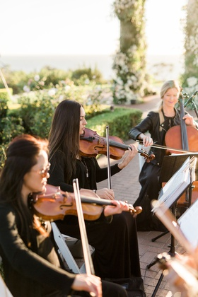 Charlise Castro and Houston Astros mlb player George Springer III wedding entertainment quartet