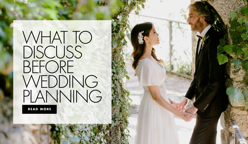 what to discuss before wedding planning