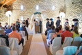 Simple wedding ceremony at oldest barn in Iowa