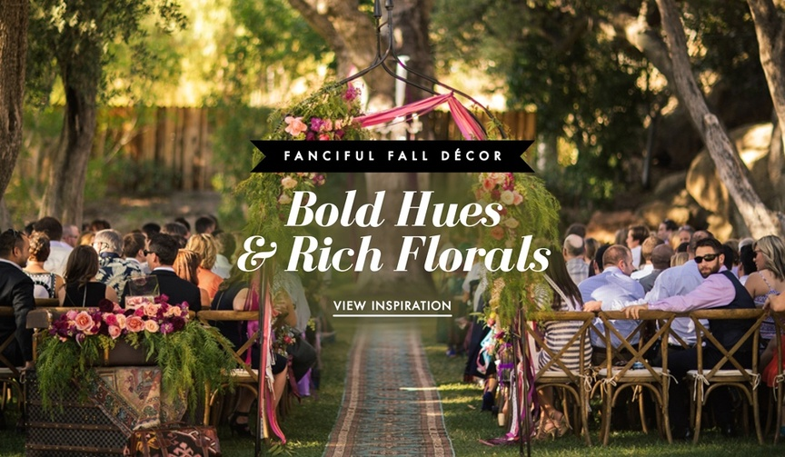 Fall wedding color palettes for ceremonies and receptions