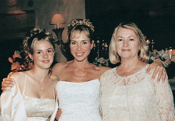 The mother of the bride and her daughters