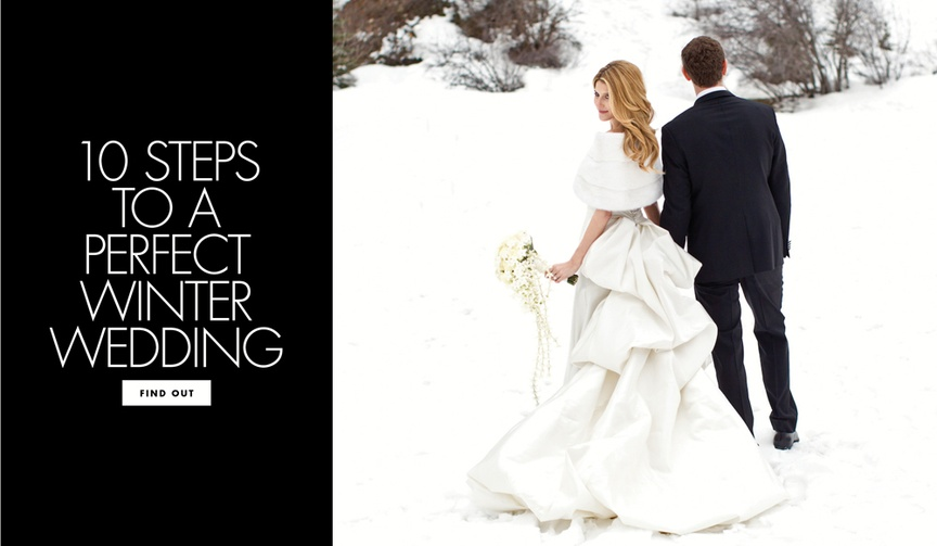 Ten steps to a perfect winter wedding