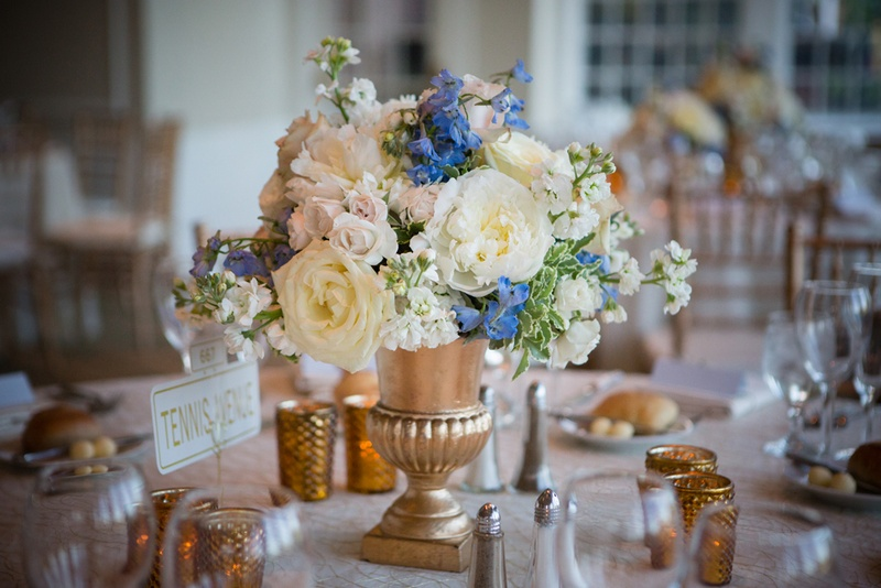 Reception Dcor Photos Gold Centerpiece Vase Inside Weddings