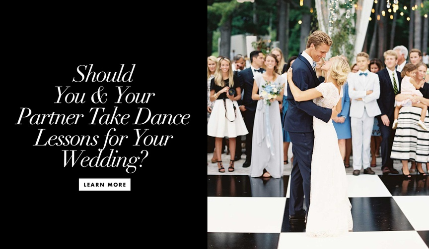 Should you and your partner take dance lessons for your wedding reception