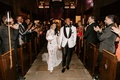 "r&b singer durrell ""tank"" babbs & zena foster wedding, long sleeve lace wedding dress, white jacket"