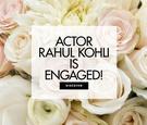 iZombie's Rahul Kohli engaged to Yasmin Molloy, vintage-inspired ruby engagement ring