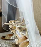 Brides strappy, gold, Jimmy Choo pumps