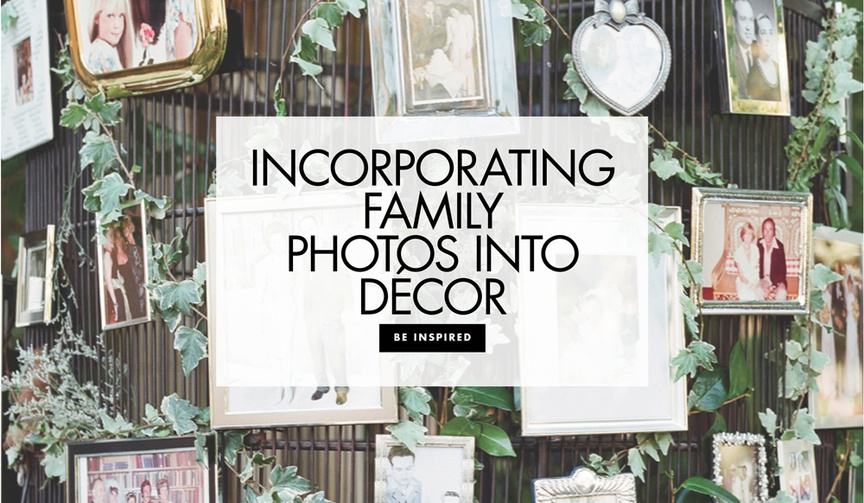 Incorporating family photos into decor wedding decoration ideas family photo ideas