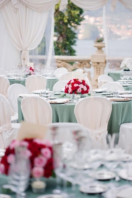 Vintage-inspired Lake Como Italy wedding reception