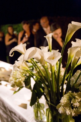 White calla lily and floral arrangement