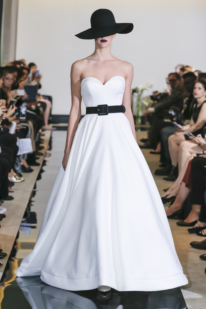 Wedding Dresses Photos - Folded Collar Gown by Justin Alexander ...