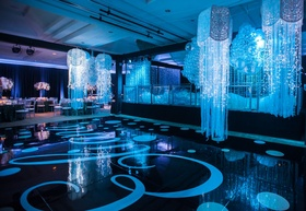 """Handmade """"Jelly Fish"""" complete with a VIP lounge for this Bat Mitzvah."""