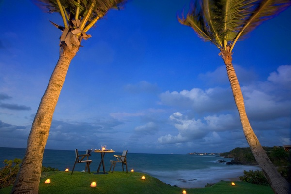 Private dinner with candles at W Retreat & Spa, Vieques Island