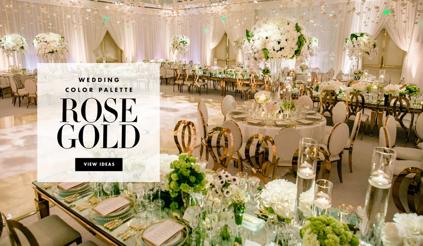 Rose Gold Wedding Ideas For Ceremony Reception Décor: Wedding Planning