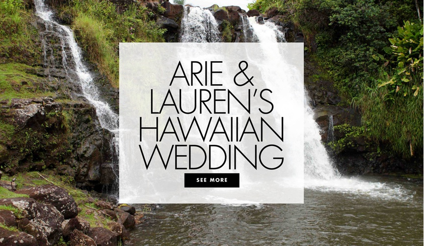 Arie Luyendyk Jr and Lauren Burnam the bachelor couple hawaii wedding ceremony and reception