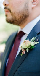 Inspiration for a boutonniere on groom