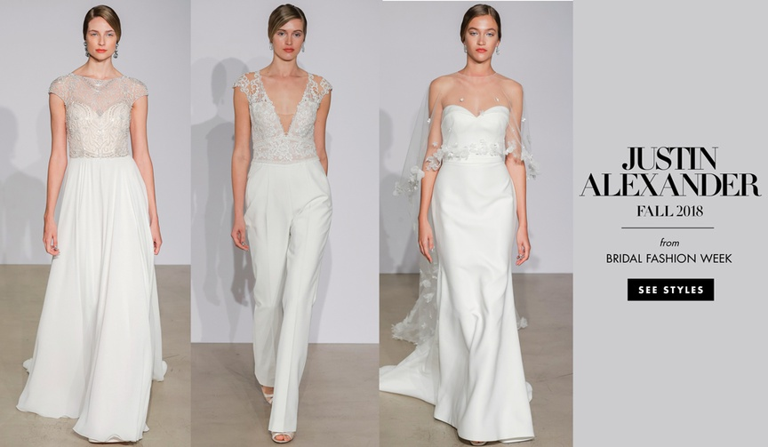 Bridal Fashion Week Justin Alexander Fall 2018