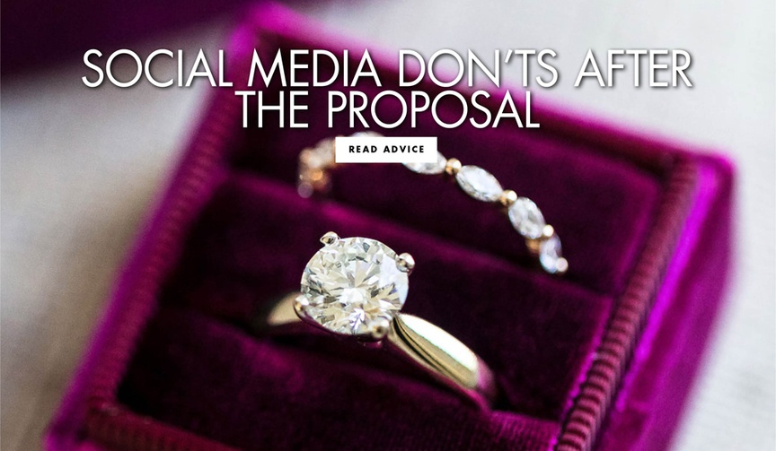 social media don'ts after the proposal bridal etiquette tips