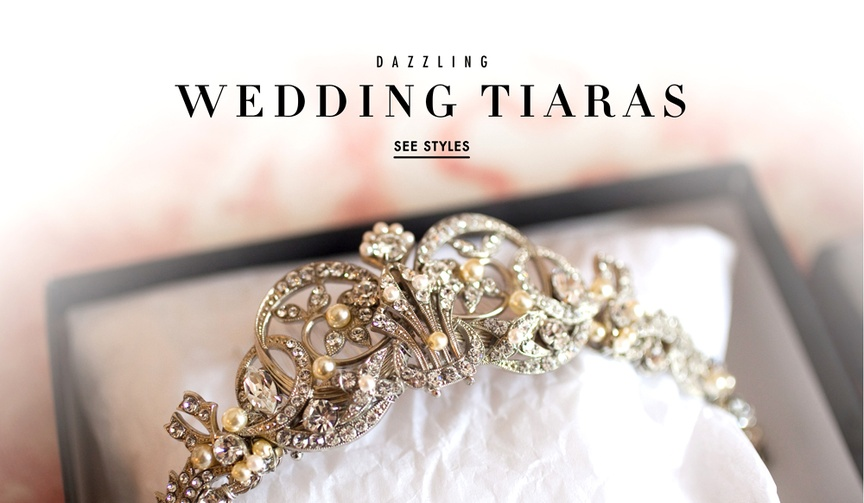 Pretty wedding tiara and headpiece styles