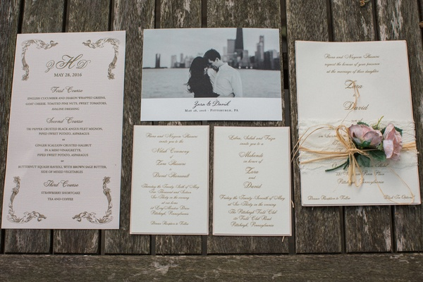 black and white save the date, invitation suite in neutral tones