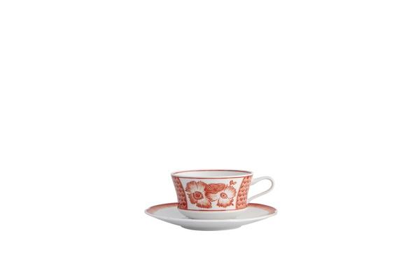 Coralina by Oscar de la Renta for Vista Alegre teacup and saucer