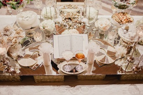 sofreyé aghd table at persian wedding with symbolism pieces for marriage ceremony