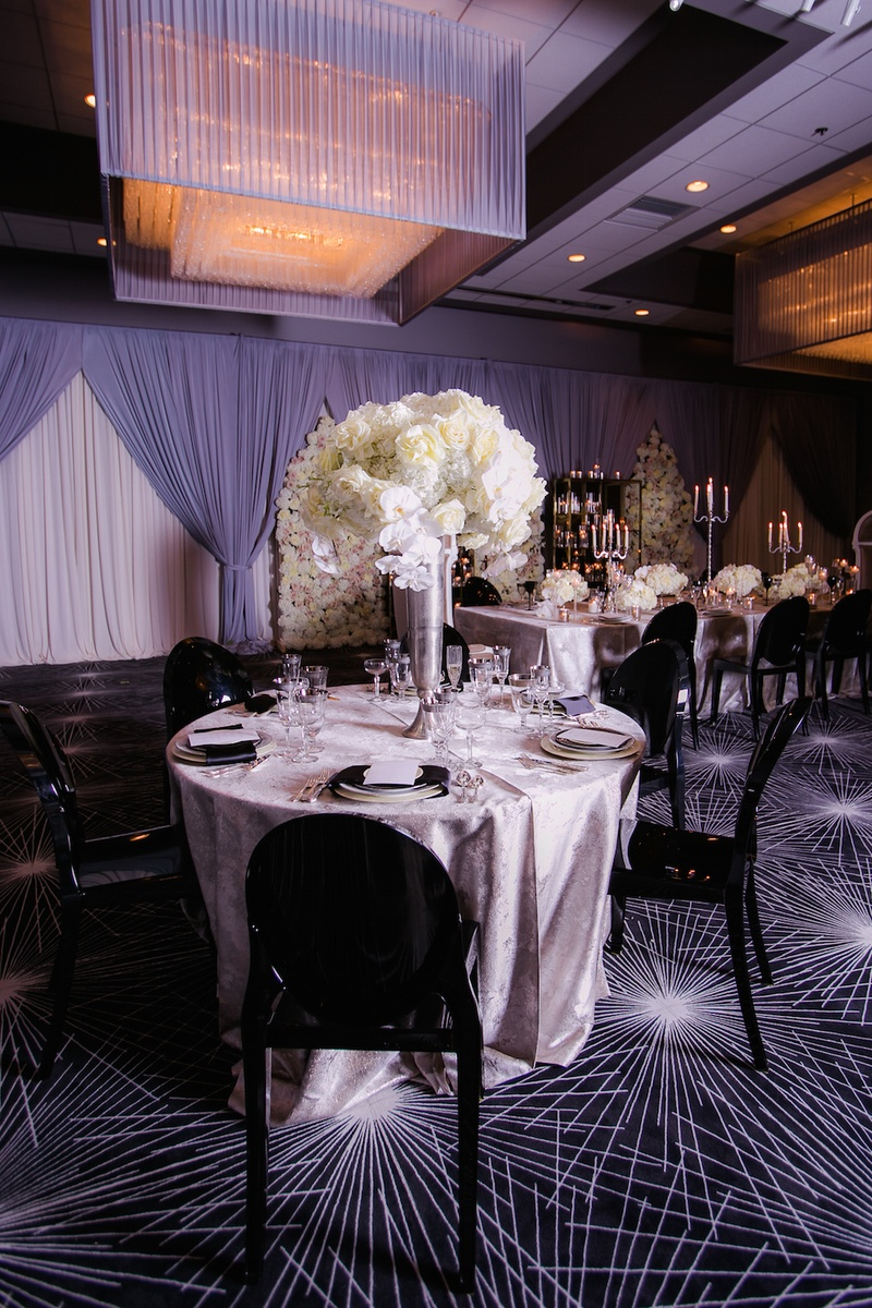 celebratory wedding shoot with elegant & romantic décor in chicago