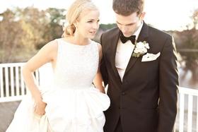 Keri Lynn Pratt wedding dress with sparkle bodice