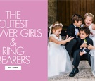 the cutest flower girls and ring bearers at real weddings