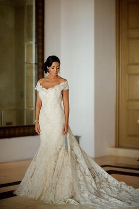 Courtney Mazza in Ines Di Santo wedding dress